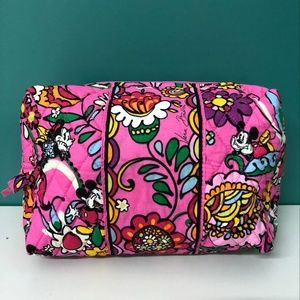 NWOT Vera Bradely Large Cosmetic Bag Mickey